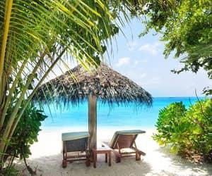 beach, holidays, and Maldives image