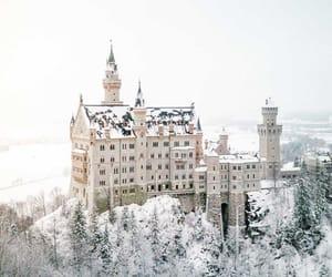 castle, neuschwanstein, and snow image