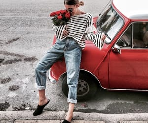 car, denim, and fashion image