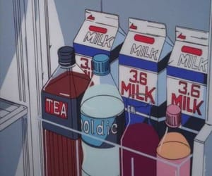 anime, aesthetic, and milk image