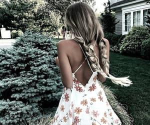 braid, dress, and hair image