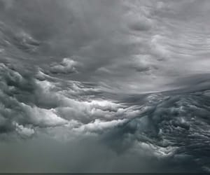 art, clouds, and dark image