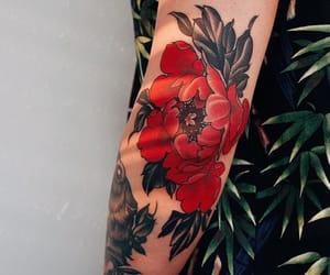 tattoo and peonies image