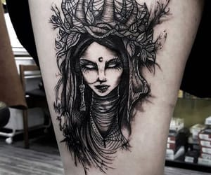 Queen, tattoo, and woman image