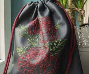 backpack, flowers, and navy image