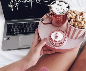 gossip girl, food, and pink image