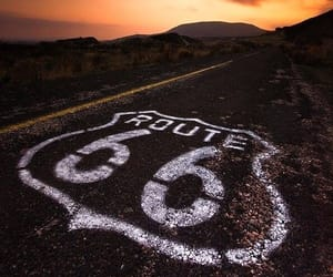 route 66, sunset, and travel image