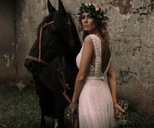 boho, cavalo, and bride image