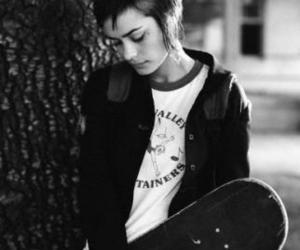 girl, Shannyn Sossamon, and skate image