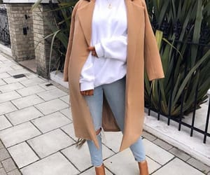 blazer, jeans, and long image
