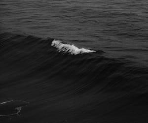 black, sea, and waves image