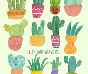 artwork, plant, and cacti image