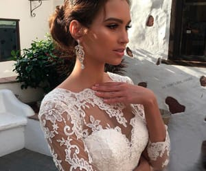 wedding, dress, and beautiful image