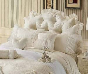 white bed and shabby chic bed image