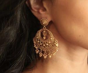 beautiful, earrings, and girl image