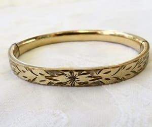 etsy, gold filled bangle, and antique jewelry image