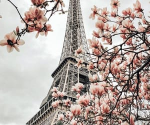 paris, clouds, and pink image