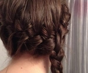 aesthetic, braid, and brown hair image