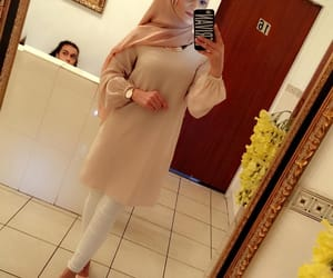 chic, hijab, and outfit image