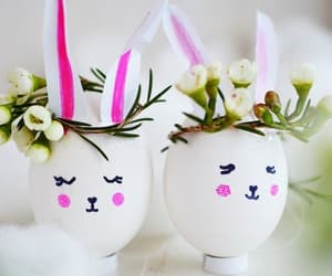 easter, easter bunny, and easter eggs image