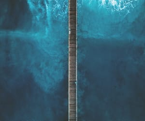 photography, blue, and ocean image