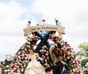 parade, Walt Disney World, and belle and beast image