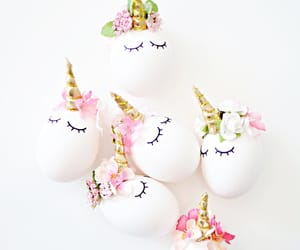 easter, eggs, and unicorn image