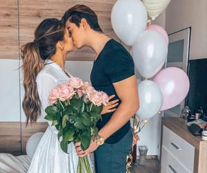 couple, goals, and flowers image