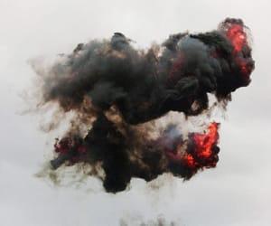 fire, smoke, and black image