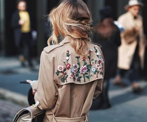 blonde, coat, and fashion image