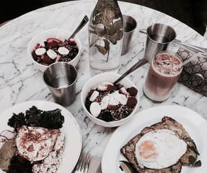 food, breakfast, and cafe image