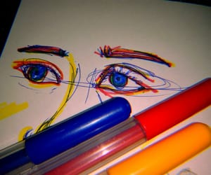 art, eyes, and self potrait image