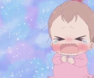 anime, anime baby, and crying image