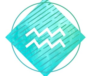 aquarius, horoscope, and turquoise image