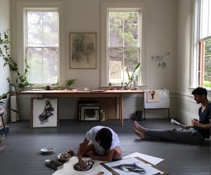 art, boy, and home image