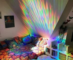 room, rainbow, and bedroom image