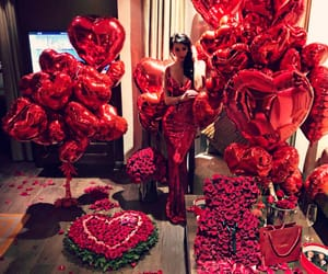 flowers, love, and balloons image