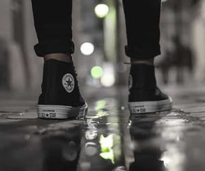 converse, black, and rain image