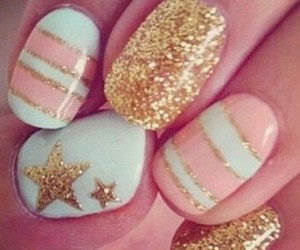 nails, stars, and pink image