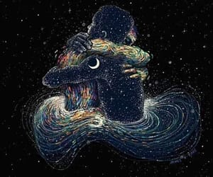 art, beautiful, and moon image