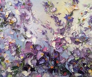 art, flowers, and purple image