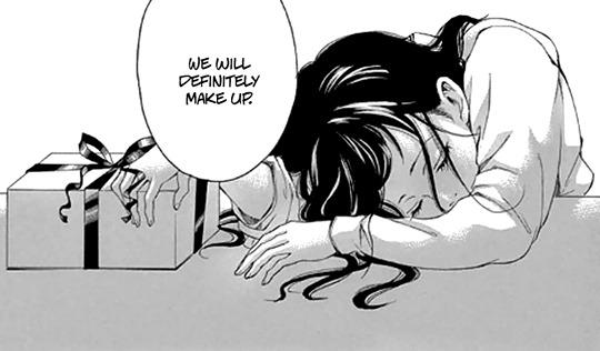 black&white, feelings, and manga image