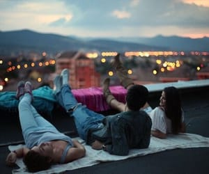 city, lights, and youth image