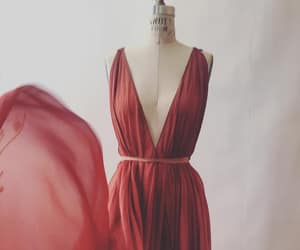 aesthetic, dress, and red image