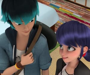 cartoon, luka, and marinette image