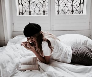 girl, book, and style image
