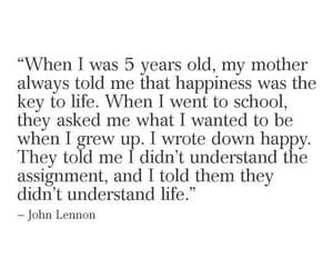 happy, john lennon, and life image
