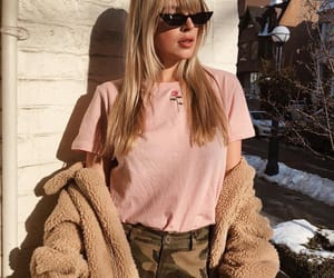 fashion, pink, and teddy coat image