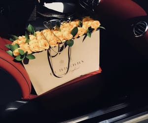 flowers, Burberry, and love image