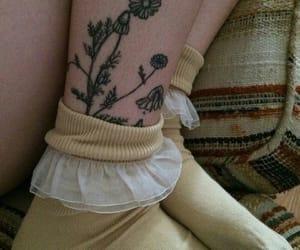 tattoo, flowers, and socks image